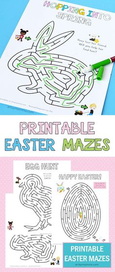 Printable Easter Activity for Kids - Egg, Chick, & Bunny Mazes Looking for a simple printable Easter activity for your kids or elementary-aged students? Check out these super cute printable Easter Mazes! Easter Activities For Kids, Spring Activities, Easter Crafts For Kids, Holiday Activities, Craft Activities, Easter Puzzles, Bunny Crafts, Easter Art, Hoppy Easter