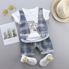 Cotton and polyester blend materials make the fabric comfortable and smooth for kids' sensitive skin. Toddler Outfits, Boy Outfits, Bad Boys, Sensitive Skin, Little Boys, Gentleman, Baby Kids, Overalls, Blue