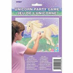 What's a Unicorn Party without the perfectly themed party game?  Like Pin the Tail on the Donkey, your little guests can take turns trying to pin the unicorn's horn as close to the actual spot as possible!  #unicorn #unicorntheme #magical #littlegirls #birthday #party #events #styling #pony #designerkids #designerbaby #partyshop #partydecor #rainbow #partyideas #kidsparty #designerparty #balloons #partyware #motherhood #parenting #pregnancy #nursery #babyroom #decor #styling #littlebooteekau