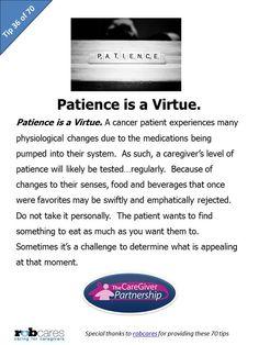 Tip #36 of 70 Tips for Caregivers  http://www.caregiverpartnership.com/