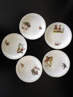 Old Decorative Porcelain Plates French Antique by VillaMaria9, $28.00