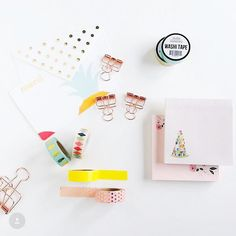 All things pretty!  Happy pic from @jollityshop to start this sunny wednesday  Thanks Eva!  #studiostationery #stationery #jollityshop #washitape #clips #notes #postcard #colors #instalike #shoppingonline #wholesale by studiostationery
