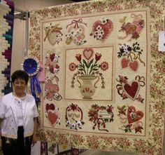 Cheryls Quilt Corner, Online Quilt Shop, Guymon, Oklahoma, Quilt Gallery Vintage Valentine quilt pattern