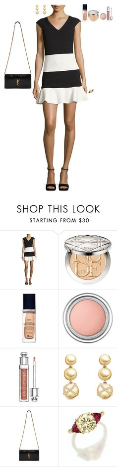 """Hang out to dance in LA"" by stylev ❤ liked on Polyvore featuring Boutique Moschino, Christian Dior, David Yurman and Yves Saint Laurent"