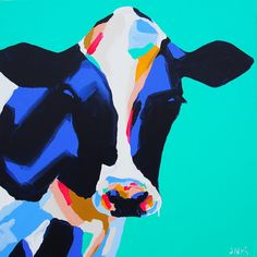 Buy online a Limited Edition Art Print of an original Anya Brock painting. Abstract Portrait Painting, Cow Painting, Nature Paintings, Animal Paintings, Oil Paintings, Art Inspiration Drawing, Art Inspo, Abstract Animal Art, Small Canvas Art