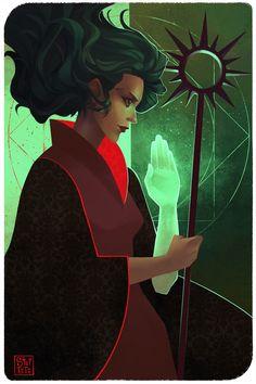 [TAROT CARD] Nymeria Trevelyan by StefTastan