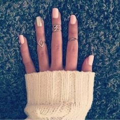 new manicure idea...love the rings, too