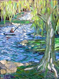 Gone Fishing mosaic