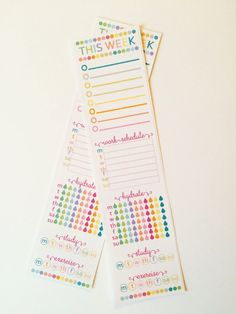 Erin Condren - Dotty Side Bar Hydrate, Work, Study, CUSTOMIZE IT Planner Stickers