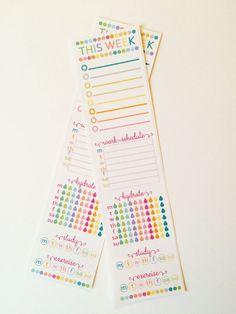 Erin Condren - Dotty Side Bar Hydrate, Work, Study, CUSTOMIZE IT Planner Stickers