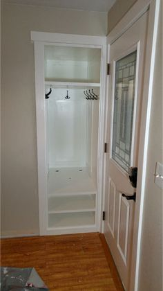 home Redone Small Entry Closet: 7 Steps (with Pictures) Preventing Bathroom Mold Your bathroom is on Small Coat Closet, Tiny Closet, Small Closets, Open Closets, Dream Closets, Front Hall Closet, Entryway Closet, Closet Bedroom, Closet Doors