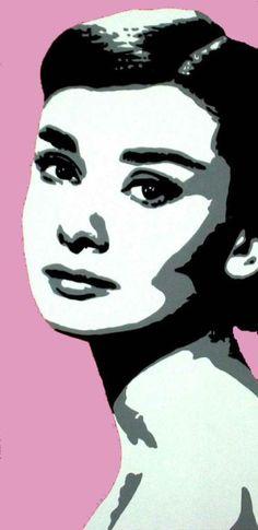 pop art audrey hepburn