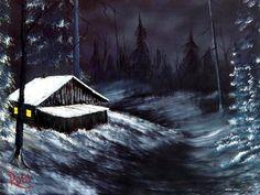 Bob Ross - Winter Night
