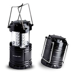 Ultra Bright LED Lantern - Best Seller - Camping Lantern - Collapses - Suitable for: Hiking, Camping, Emergencies, Hurricanes, Outages - Super Bright - Lightweight - Water Resistant - Black - Divine LEDs | shopswell
