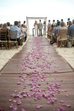 walking on rose petals...