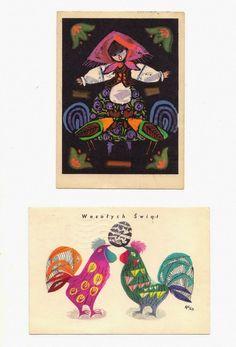 vintage Polish postcards – Zbigniew Rychlicki Czesław Wielhorski Hans Christian, Art Costume, Costumes, Polish Folk Art, School Design, Pattern Art, Graphic Illustration, Illustrators, Fairy Tales