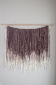 Large yarn wall hanging | ombre wall hanging | tapestry | boho decor by Thoseindiemommies on Etsy https://www.etsy.com/listing/491333814/large-yarn-wall-hanging-ombre-wall