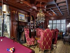 I would love to do this to our parlor, but maybe a slightly more modern version
