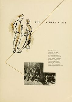"Athena yearbook, 1953. ""Whether you are finishing or just beginning your life at Ohio University..."" :: Ohio University Archives"