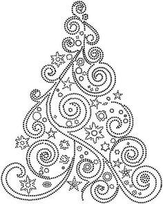 Kerstboom christmas atc, christmas macarons recipe, christmas ideas gifts - New Ideas Christmas Mandala, Christmas Tree Nails, Christmas Tree Painting, Christmas Rock, Dot Art Painting, Mandala Painting, Painting Patterns, Paper Embroidery, Embroidery Patterns