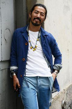 Visvim founder Hiroki Nakamura is the king of laid back cool. Hipster Grunge, Grunge Goth, Hipster Style, Over The Top, Blue Fashion, Denim Fashion, London Fashion, Boho, Street Style Vintage