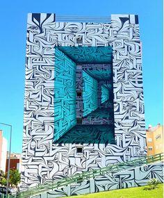 Graffiti artist creates mesmerising optical illusion facades: http://www.thinktank.org.uk/blog/2199-optical-illusion-street-art.php