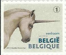belgian stamps The Fair - self-adhesive.- Unicorn