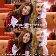 """#GirlMeetsWorld 3x04 """"Girl Meets Permanent Record"""" - Riley and Maya"""