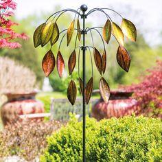 Evergreen Enterprises 3 Tiered Tree Kinetic Wind Spinner - Wind Spinners at Hayneedle