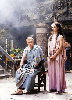 Kevin McKidd & Indira Varma in 'Rome' (2005). x