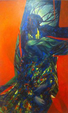 #IranianPainters Without Title By Ahmad KhaliliFard 2017 Medium: Oil On Canvas Location: Negar Art Gallery, Tehran, Iran CopyRight: Fair Use بدون عنوان از احمد خلیلیفرد ١٣٩٥ تكنيك: رنگ روغن بر بوم محل نگهداري اثر: نمايشگاه نقاشي، حجم و چيدمانِ 'قرمز'، گالري نِگر، تهران، ايران حق تكثير: استفاده منصفانه