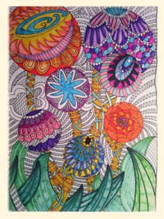 Zentangle Flowers - I see a QUILT in this