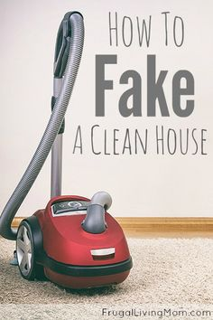 Sometimes you don't have time to clean!! This post has some great tips on getting your house guest ready in no time!