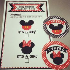 Gender Reveal Voting Ballots and I VOTED by ktbluecreations