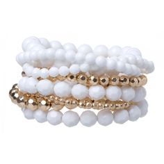 Acrylic Bead Wristwear Pack in #White - 22558 - from @colettehayman (AUD $9.95).