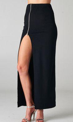 #oBaz                     #Skirt                    #Zipper #Maxi #Skirt      Zipper Me Up Maxi Skirt                             http://www.seapai.com/product.aspx?PID=103301