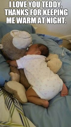 Mama Share- My baby girl would not sleep unless on my chest so I had to use a stuffed animal so she would stay asleep. Baby Tips, Baby Hacks, Newborn Schedule, Little Ones, Children, Kids, Love You, Jokes, Parenting