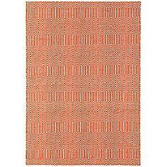 Debenhams - Orange woollen 'Sloane' rug