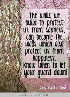 vulnerability allows us to feel the full range of life & love....