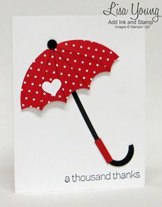 A Red Umbrella thousand thanks Card