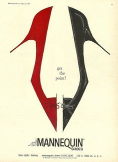 Retro Shoe Advertising Poster | Mannequin Shoes.