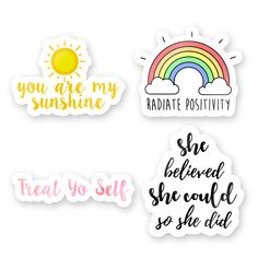 Stickers Discover Positivity Sticker Pack Positivity Sticker Pack The Decal Bros Pop Stickers, Red Bubble Stickers, Tumblr Stickers, Journal Stickers, Printable Planner Stickers, Scrapbook Stickers, Homemade Stickers, Aesthetic Stickers, Collage