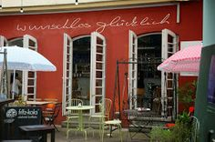 """""""Wunschlos Glücklich"""" in Würzburg  {the vegan waffles are the best and you gotta love the boho flair}"""