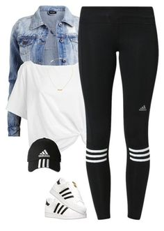 Adidas workout outfit, Leggings s, Adidas Superstar casual outfits with leggings - Casual Outfit Teen Fashion Outfits, Swag Outfits, Mode Outfits, Sport Outfits, Trendy Outfits, Fall Outfits, Summer Outfits, Legging Outfits, Cute Sporty Outfits