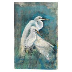 Showcasing an egret motif, this artful canvas print is a charming addition to your foyer or gallery wall.    Product: Canvas pri...