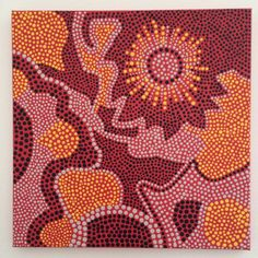 Dot Painting, Aboriginal inspired, Acrylic dot painting, Acrylic on wrapped canvas dot painting
