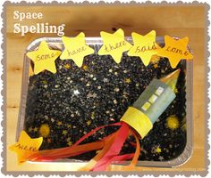 Super Space Sensory Spellings -A fun way to learn to spell Kindergarten Activities, Educational Activities, Activities For Kids, Spelling Activities, Steam Activities, Preschool Themes, Kindergarten Teachers, Indoor Activities, Learning Activities