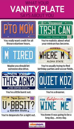 What your vanity plate says about you?