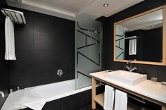 Jazz bathrooms | Private bath with Hair dryer.