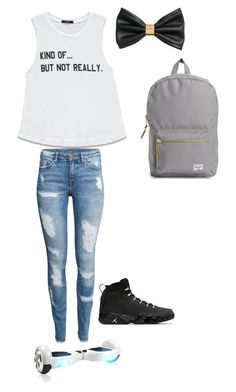 """Untitled #182"" by crazyperson456 ❤ liked on Polyvore featuring Forever 21, H&M and Herschel Supply Co."